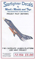 Starfighter 1/72 F4D1 Skyray Satallite Launch Platform ASAT Project Pilot (NOTSNIK) for TAM