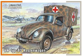 Special VW Type 83 Kastenwagen (Ambulance) Plastic Model Military Vehicle Kit 1/35 Scale #35005
