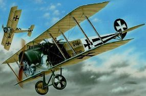 Special WWI Fokker D II BiPlane w/Black/White Tail Mkgs Plastic Model Airplane Kit 1/48 #48038