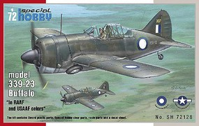 Special 1/72 Buffalo Model 339-23 in RAAF & USAAF Colors Aircraft
