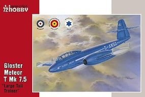 Special Gloster Meteor T Mk 7.5 Large Tail Trainer Aircraft Plastic Model Airplane Kit 1/72 #72317