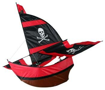 Skydog Kites Small Pirate Ship 27 -- Single-Line Kite -- #10022