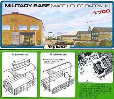 Skywave Military Base Barracks & Warehouse Plastic Model Military Diorama Kit 1/700 Scale #23