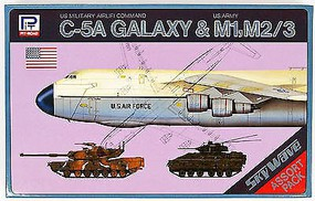 Skywave C5A Galaxy Aircraft, M1 & M2/3 Tank (3 Kits) Plastic Model Military Vehicle Kit 1/700 #s1