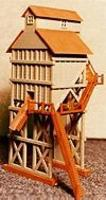 Scale-Structures Coal Tower (Unpainted Metal Castings) HO Scale Model Railroad Accessory #7238