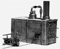 Scale-Structures Baker Hi-Steam Boiler (Unpainted Metal Casting) HO Scale Model Railroad Accessory #9105