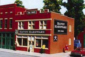 Smalltown Hardware Store Kit HO Scale Model Railroad Building #6006