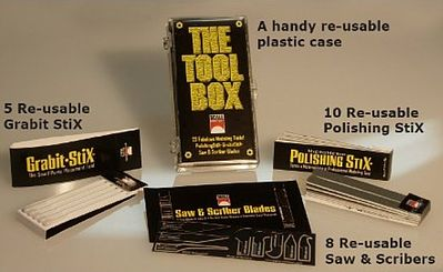 Scale Motorsports The Tool Box (5 Grabit Stix, 10 Polishing Stix, 8 Saw & Scribers)