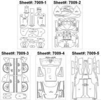 Scale-Motor Enzo Template Comp. Fiber Decal Set Plastic Model Vehicle Decal 1/24 Scale #7009