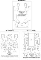 Scale-Motor Toyota GT1 TS020 Template Comp. Fiber Decal Set Plastic Model Vehicle Decal 1/24 #7118