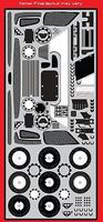 Scale-Motor Enzo Ferrari Photo-Etch Detail Set For TAM Plastic Model Vehicle Accessory 1/12 #8085