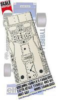 Scale-Motor Tyrrell 003 Monoco GP Photo-Etch Detail Set For TAM Plastic Model Vehicle Decal 1/12 #8090