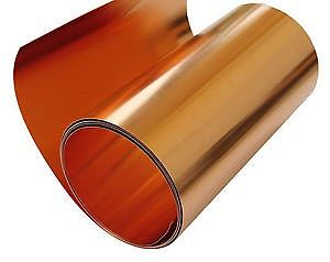 St. Louis Crafts 40 Gauge Copper Tooling Foil (.003'' thick, 12'' wide, 3' Roll)