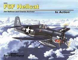 Squadron F6F Hellcat In Action (Softcover) Authentic Scale Model Airplane Book #10216