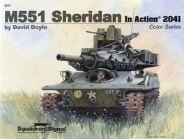 Squadron M551 Sheridan Color In Action Authentic Scale Tank Vehicle Book #2041
