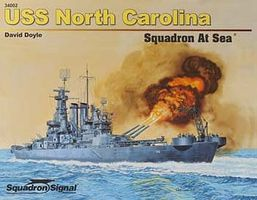 Squadron USS North Carolina Squadron At Sea Authentic Scale Model Boat Book #34002