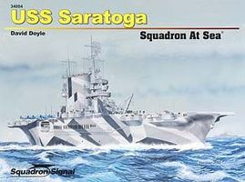 Squadron USS Saratoga Squadron at Sea Authentic Scale Model Boat Book #34004