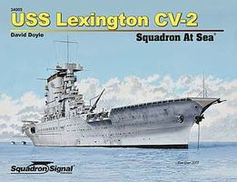 Squadron USS Lexington Squadron At Sea Authentic Scale Model Boat Book #34005