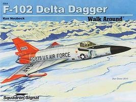 Squadron Convair F-102A Delta Dagger Walk Around Authentic Scale Model Airplane Book #5564