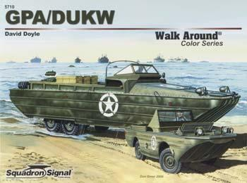 Squadron/Signal Publications GPA/DUKW Color Walk Around -- Authentic Scale Model Boat Book -- #5710