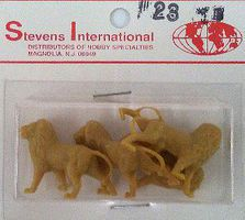 Stevens HO/N Lions (4) HO Scale Model Railroad Figure #23