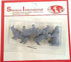 Stevens HO/N Rhinos (4) HO Scale Model Railroad Figure #27