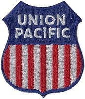 Sundance Union Pacific (Red, White, Blue) 2 Vertical Cloth Railroad Patch #71080