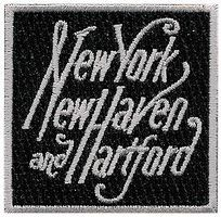 Sundance New York,New Haven and Hartford (Script, White, Black) 2 Cloth Railroad Patch #73058