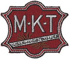 Sundance Missouri-Kansas-Texas (Large M-K-T, Red, White, Green) 2 Cloth Railroad Patch #74057