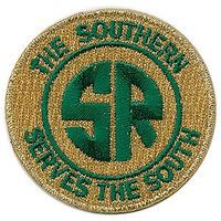Sundance Southern Railway (Serves the South, Yellow, Green) 2 Diameter Cloth Railroad Patch #74080