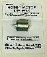 Stevens-Motors 1.5 to 3v DC Small Electric Motor (Round Can) (for slower RPMs)