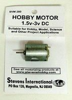 Stevens-Motors 1.5 to 3v DC Small Electric Motor (Round Can) (for more speed)