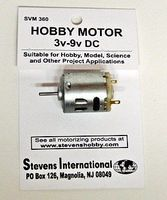 Stevens-Motors 3 to 9v DC Small Electric Motor (Round Can) (for higher RPMs)