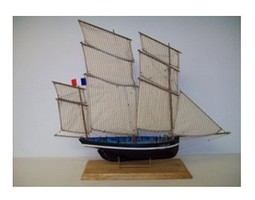 Soclaine 1/50 Petrel 3-Masted 1908 Cancale Fishing Smack Boat