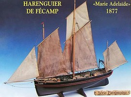 Soclaine 1/50 Fecamp 3-Masted 1877 Herring Fishing Trawler Boat
