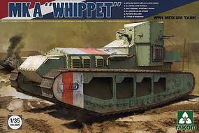 Takom WWI MK A Whippet Plastic Model Military Vehicle Kit 1/35 Scale #2025
