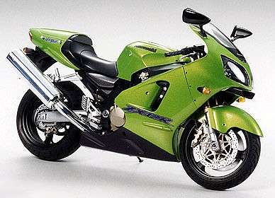 Kawasaki Ninja Zx 12r Bike Plastic Model Motorcycle Kit 1 12 Scale