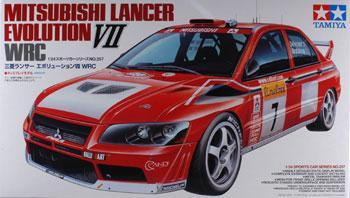 Mitsubishi Lancer Evo Vii Wrc Rallycar Plastic Model Car Kit 1 24