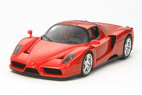 Tamiya Enzo Ferrari w/Detail Up Parts Supercar Sportscar Plastic Model Car Kit 1/24 Scale #24327