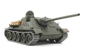 Tamiya Russian SU-100 Tank Destroyer Plastic Model Military Vehicle Kit 1/25 Scale #25104