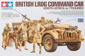 Tamiya British LRDG Command Car w/7 Figures Plastic Model Military Vehicle Kit 1/35 Scale #32407