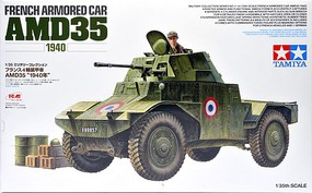 Tamiya French Armored Car AMD35 1940 (ICM) Plastic Model Military Vehicle Kit 1/35 Scale #32411