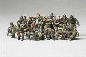 Tamiya WWII Russian Infantry/Tank Crew Soldier Plastic Model Military Figure Kit 1/48 Scale #32521