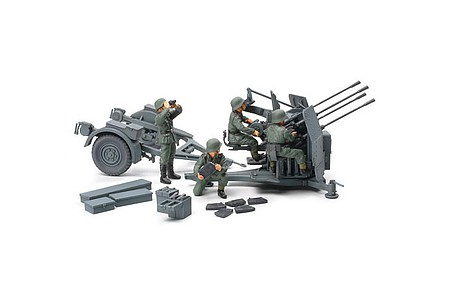 Tamiya German 20mm Flakvierling 38 -- Plastic Model Military Vehicle Kit -- 1/48 Scale -- #32554