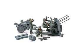 Tamiya German 20mm Flakvierling 38 Plastic Model Military Vehicle Kit 1/48 Scale #32554