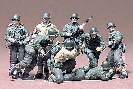 Tamiya US Infantry Euro Theater Soldier Set -- Plastic Model Military Figure Kit -- 1/35 Scale -- #35048