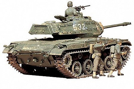 Tamiya US M41 Walker Bulldog -- Plastic Model Military Vehicle Kit -- 1/35 Scale -- #35055