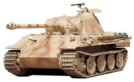 Tamiya German Panther Medium Tank -- Plastic Model Military Vehicle Kit -- 1/35 Scale -- #35065