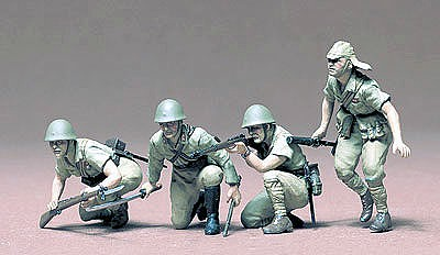 Tamiya Japanese Army Infantry Soldier Set -- Plastic Model Military Figure Kit -- 1/35 Scale -- #35090