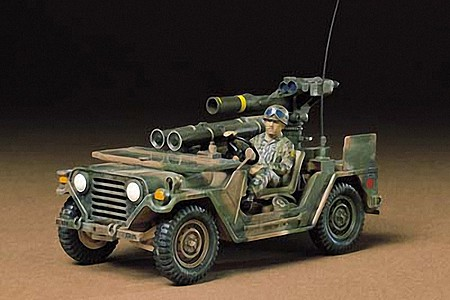 Tamiya US M151A2 w/Tow Launcher -- Plastic Model Military Vehicle Kit -- 1/35 Scale -- #35125